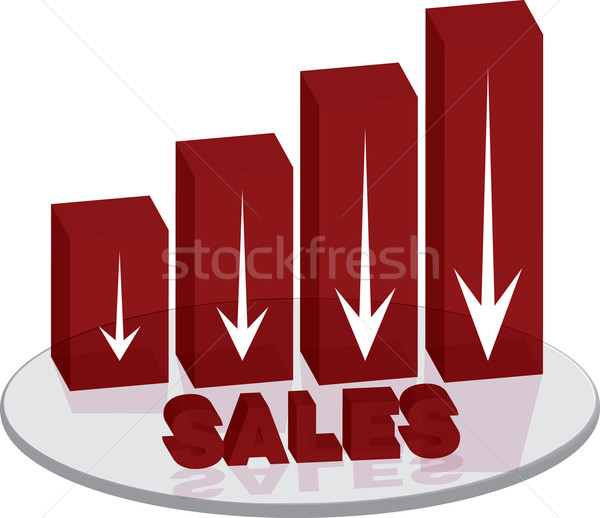 sales plinth red down text Stock photo © nicemonkey