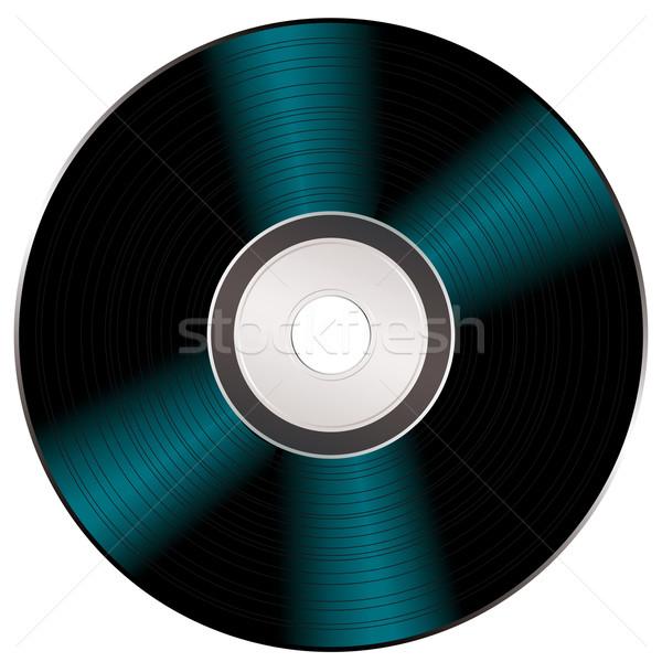Brilhante vídeo cd luz preto música Foto stock © nicemonkey