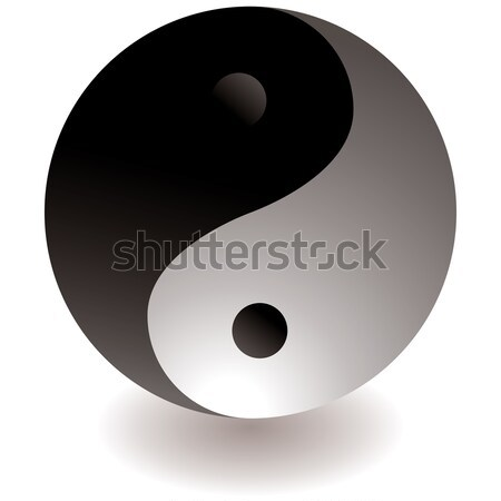 ying yang black and white Stock photo © nicemonkey