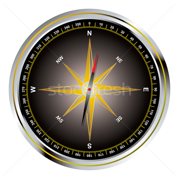 Black old fashioned compass Stock photo © nicemonkey