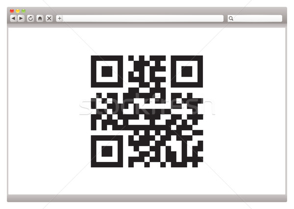 Internet browser qr code product identificatie business Stockfoto © nicemonkey