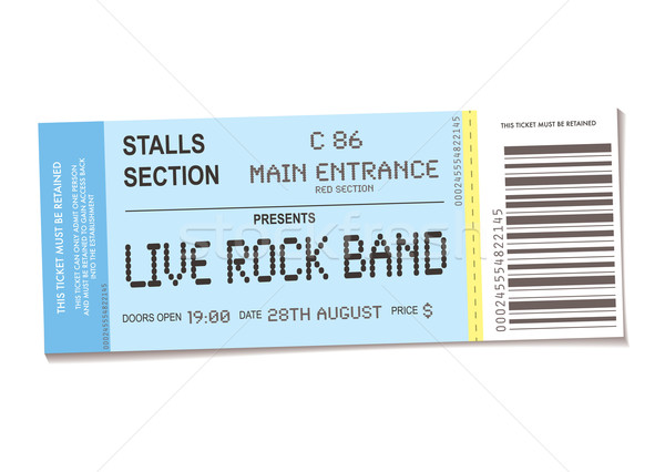 concert ticket Stock photo © nicemonkey