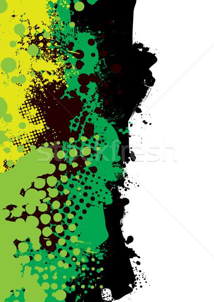 grunge green splat Stock photo © nicemonkey