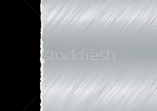 Metal lacrimógenos luz negro desgarrado página Foto stock © nicemonkey