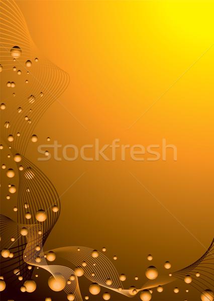 Oranje bubble rap zwarte abstract exemplaar ruimte Stockfoto © nicemonkey
