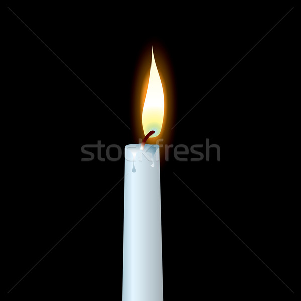 white candle Stock photo © nicemonkey