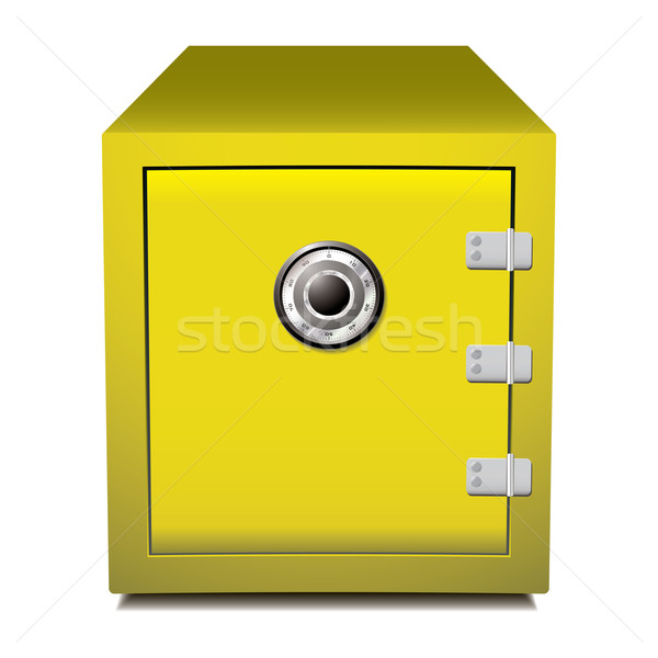 Secure gold metal safe Stock photo © nicemonkey