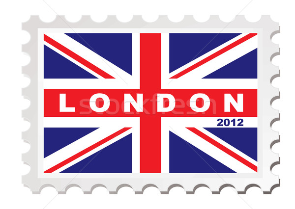 London 2012 stamp Stock photo © nicemonkey