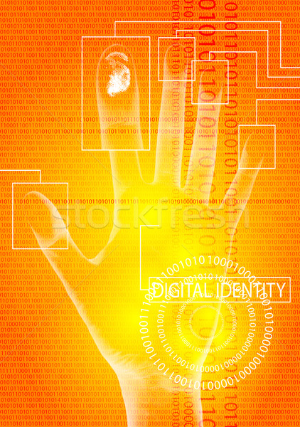 digital identity orange Stock photo © nicemonkey