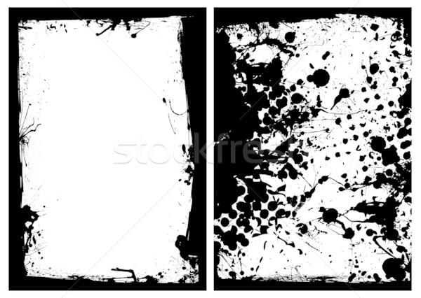 ink grunge black splat border Stock photo © nicemonkey