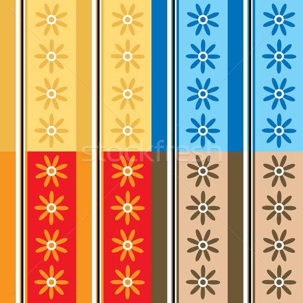 Settanta petalo abstract floreale wallpaper design Foto d'archivio © nicemonkey