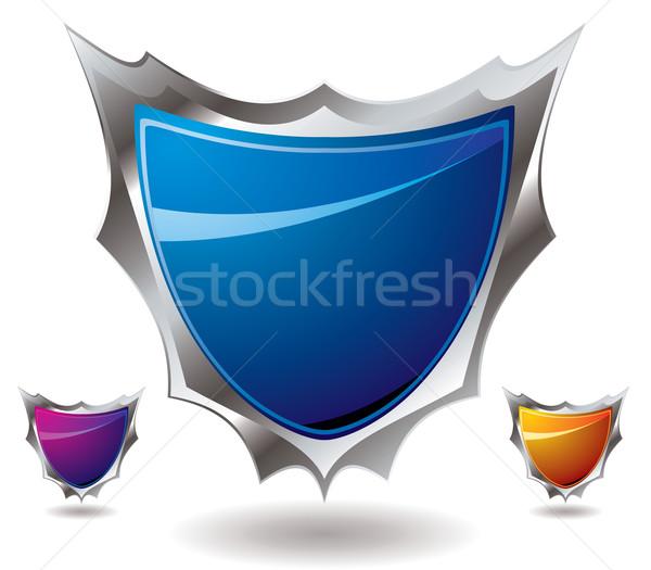 Schild scherp moderne ontwerp drie verschillend Stockfoto © nicemonkey