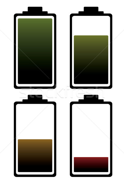 battery charge color icon Stock photo © nicemonkey