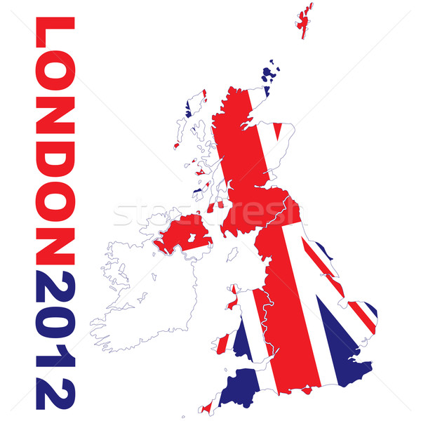 London 2012 map Stock photo © nicemonkey