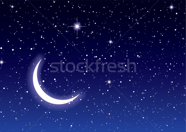 Stock photo: Space moon sky