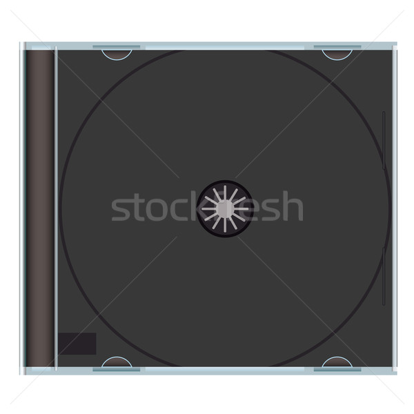 blank cd case black Stock photo © nicemonkey