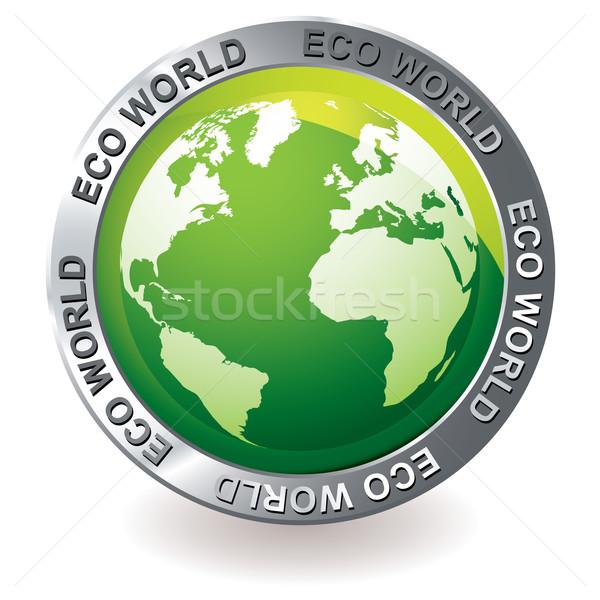 green icon eco earth globe Stock photo © nicemonkey