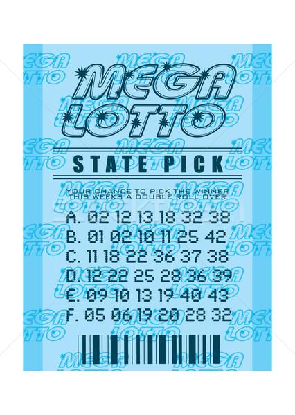Loterie billet bleu gagner Photo stock © nicemonkey
