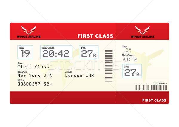 Flugzeug Tickets First-Class- rot Ticket Tor Stock foto © nicemonkey
