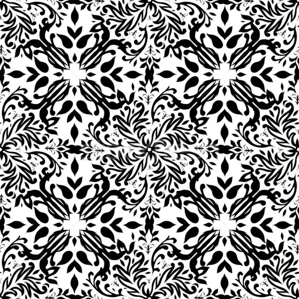 gothic mono floral Stock photo © nicemonkey