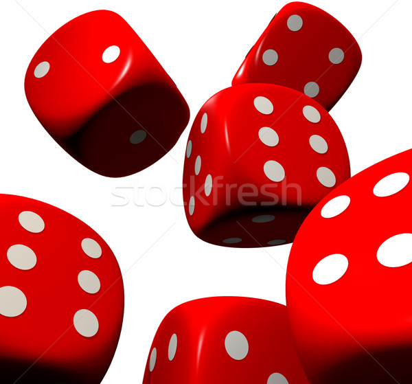 red dice falling Stock photo © nicemonkey