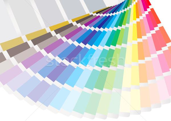 Fan renkli gökkuşağı baskı renk basın Stok fotoğraf © nicemonkey
