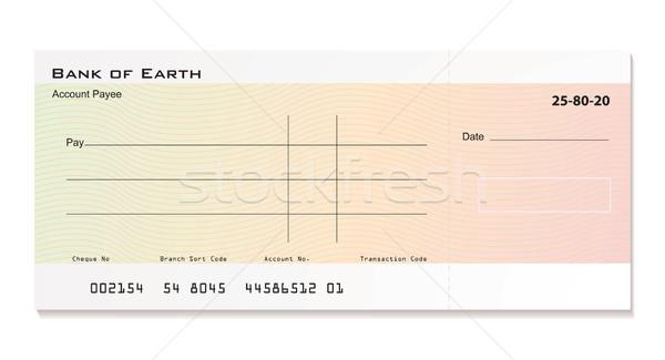 Banque chèque illustré chambre propre détails Photo stock © nicemonkey