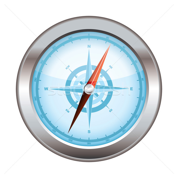Compass icon modern Stock photo © nicemonkey