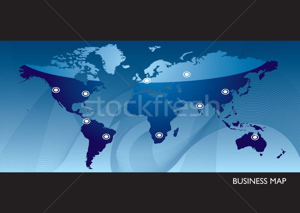 Business blue world map Stock photo © nicemonkey