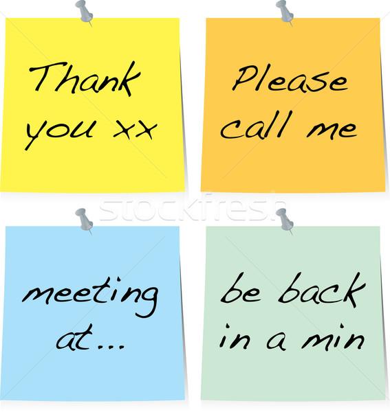 sticky note text Stock photo © nicemonkey