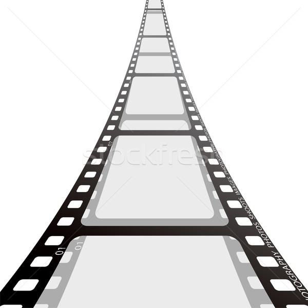 Film strip cinema cair sombra branco Foto stock © nicemonkey
