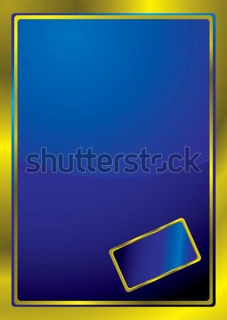 gold bevel window Stock photo © nicemonkey