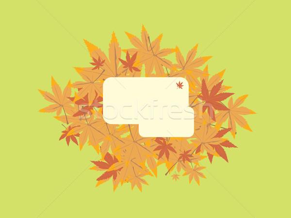 Feuille note vert design arbre fond Photo stock © nicemonkey