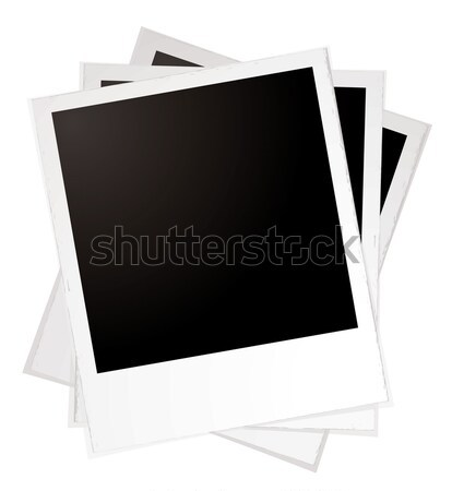 Stock photo: plain polaroid pile