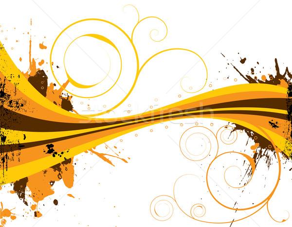 Siebziger Illustration Stil Herbst Farben abstrakten Stock foto © nicemonkey