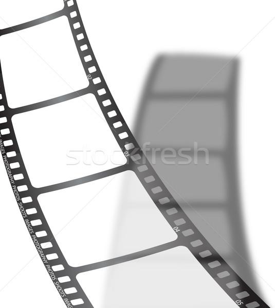 Fehér film árnyék darab csepp film Stock fotó © nicemonkey
