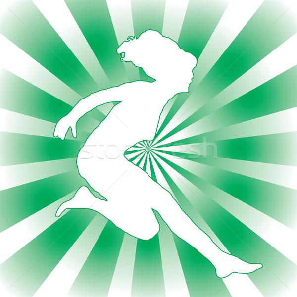 woman jump Stock photo © nicemonkey