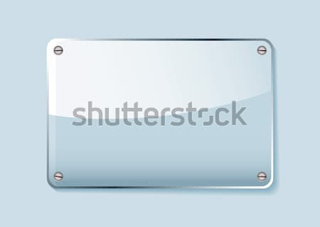 Glass name tag Stock photo © nicemonkey