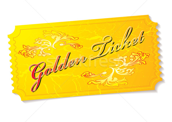 golden ticket Stock photo © nicemonkey