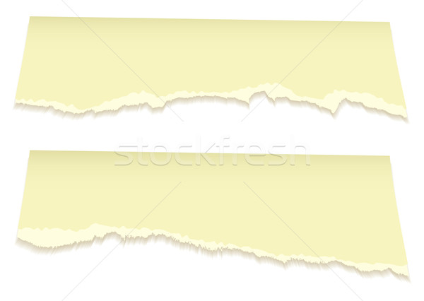 Top torn pages in yellow Stock photo © nicemonkey