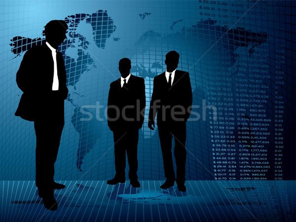 бизнеса Cool три мужчин заседание аннотация Сток-фото © nicemonkey