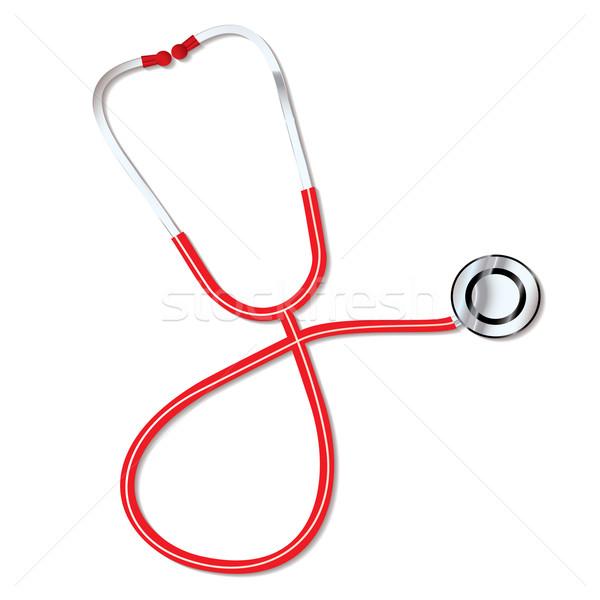 Médecins stéthoscope rouge médicaux écouter battement de coeur Photo stock © nicemonkey