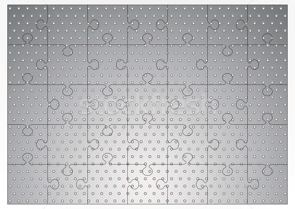 Silver metal jigsaw puzzle Stock photo © nicemonkey
