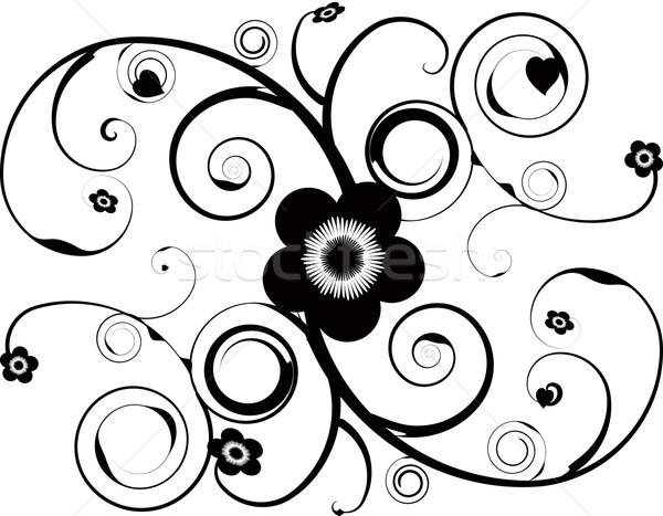 Tattoo abstract ontwerp wijnstok bloem Stockfoto © nicemonkey
