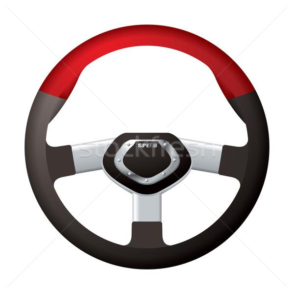 Sport stuur Rood zwarte metaal chroom Stockfoto © nicemonkey