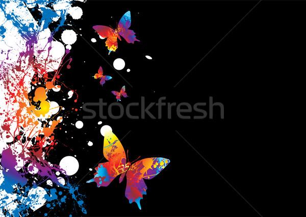 Schmetterling Grenze Unterschied hellen Farben Kopie Raum Stock foto © nicemonkey