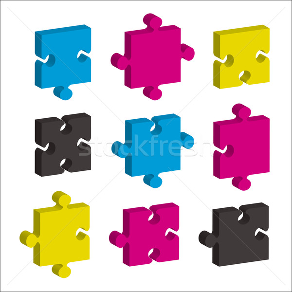 jigsaw pieces cmky Stock photo © nicemonkey