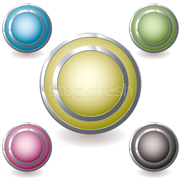 Stockfoto: Web · icon · variatie · gloed · vijf · web · icons · zilver