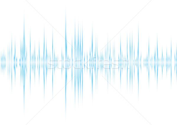 アルファ 青 白 グラフィック イコライザ ピーク ストックフォト © nicemonkey