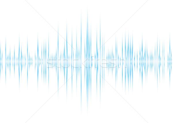 Alfa azul música gráfico equalizador Foto stock © nicemonkey